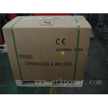 Fuerte de embalaje de cartón soldador diesel generador conjunto (4.6kw)