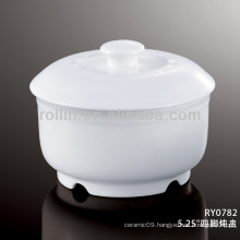 good quality chinese white ceramic soup bowls with lids