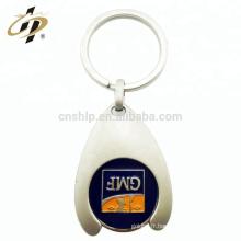Gros personnalisé concevoir votre propre logo pièce de monnaie porte-clés chariot token shopping support métallique