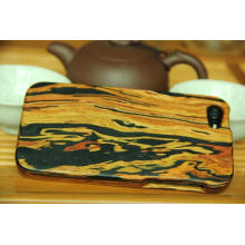 Caso de telefone de madeira da moda, tampa natural do telefone da madeira
