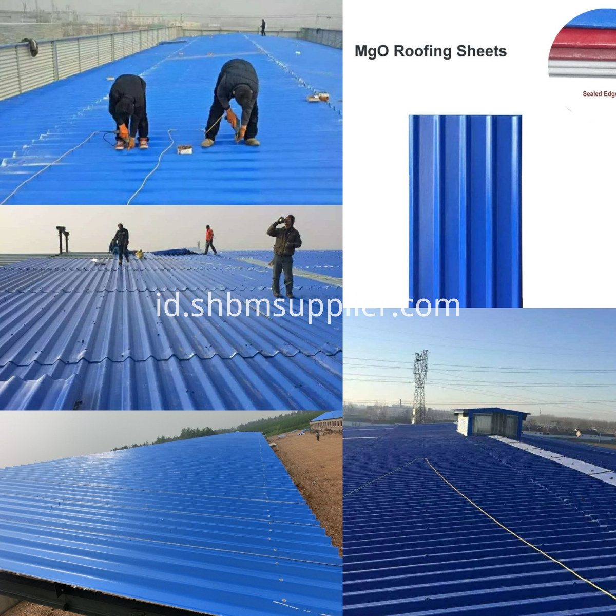 Iron Crown Cheap Price Heat-Insulating MgO Roof Tiles