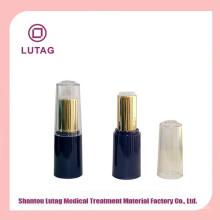 Recipiente de tubo acrílico cosméticos de luxo jar batom plástico vazio