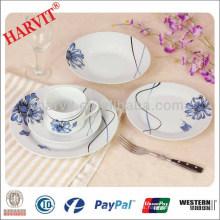 Set de cena de diseño de decoración de diente de león / Made In China Set de cena de porcelana / Nuevos conjuntos de vajilla de porcelana de Alemania