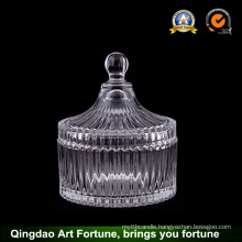 Hot Sale Glass Candle Jar with Lid Supplier Food Storage