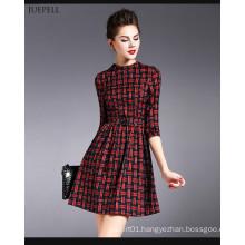 2016 Beautifully Plaid Design Fashion Dress for Women