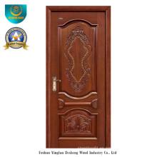 Puerta de madera maciza estilo europeo para exterior con talla (ds-8033)