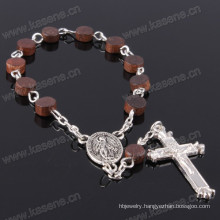 Religoius Items Coffee Wooden Beads Rosary Bracelet