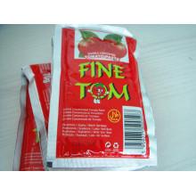 Pasta de tomate orgánica Sachet Fine Brand para el mercado de Dubai