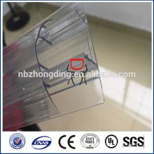 100% reine Lexan Polycarbonat Blech Stecker h und u Profil
