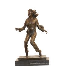 Decoração de música estátua de bronze michael jackson artesanato escultura de bronze tpy-853