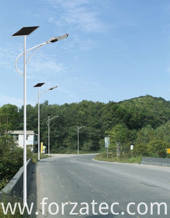solar PV street light with Li-ion battery