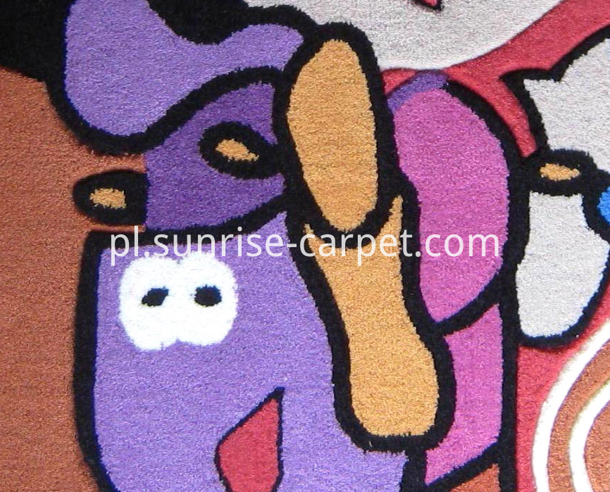Acrylic Hand Tufted Carpet Children Design