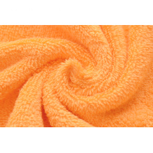 Orange Ringspun Cotton Small Bath Towels