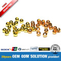 Fishing Tools Gold and Copper Tungsten Slot Ball