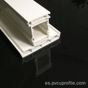 Perfiles de pvc de color blanco
