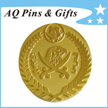 Metal Gold Badge in Quick Producing Time (badge-143)