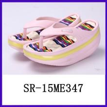 Fashion lovely lady women eva thick sole flip flops shake shoes rocking shoes