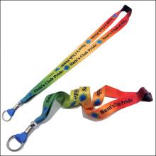 Ruban de cou de logo fait sur commande de lanière imprimée par sublimation pour des cadeaux de promotion