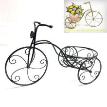 Metal Garden Decoration Vintage Tricycle Shaped Flowerpot Stand Craft