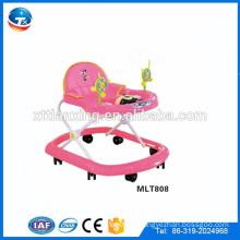 Baby walker wth push bar / Новая модель детского ходунка с игрушками / круглый ходунок для детей с ручкой