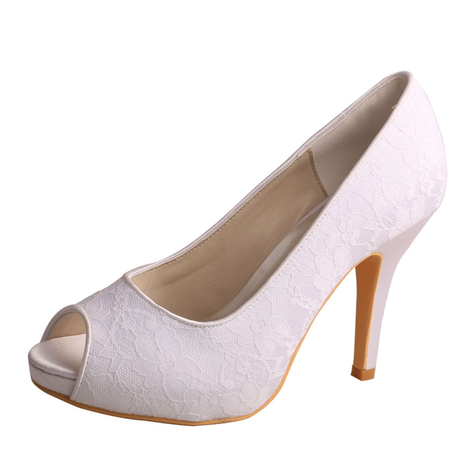 Peep Toe Bridal Shoes