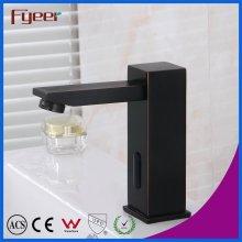 Alta calidad de latón sólido negro automático sensor grifo de baño grifo
