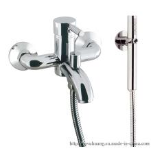 Faucet de banheira de estilo europeu com chuveiro de alça