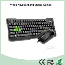 2016 Ratón combinado cableado más barato del teclado del ordenador (KB-1688C)