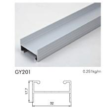 Aluminium-Schiene für Garderobe in eloxiertem Silber