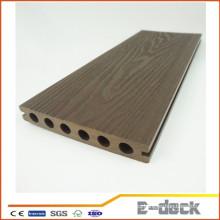 Textura de madera antideslizante nuevo material compuesto plástico de madera de las técnicas para el suelo al aire libre de la cubierta de WPC