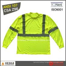 Safety Long Sleeve Eyesbird Reflective Cheap Men Hi Vis Work T Shirt