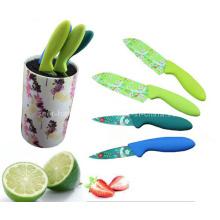 4PCS buntes Plastikhandgriff-Küche-Messer-Satz (SE-3557)