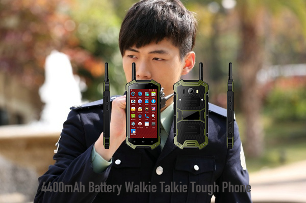 4400mAh Battery Walkie Talkie Tough Phone