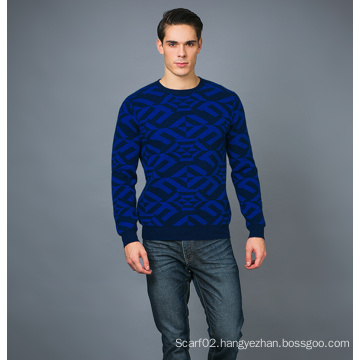 Men′s Fashion Cashmere Blend Sweater 17brpv074