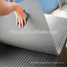 industrial grooved rubber sheet floor mat