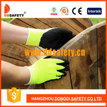 Fluorescence Yellow Acrylic Fiber Napping Line Working Gloves Dkl440