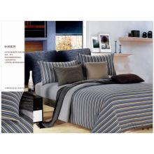 100% Natural algodão colorido conjunto de cama 100% algodão jersey equipado lençóis