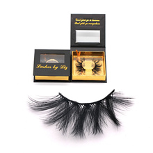 DL015 Hitomi private label eyelashes box top quality imported korea synthetic fiber silk lashes 25mm silk eyelashes