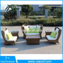 Ensemble de sofa de rotin extérieur de meubles de jardin de conception unique