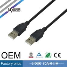 SIPU alta calidad masculina a macho usb cable awm 2725 al por mayor usb cable de extensión mejor cable usb precio