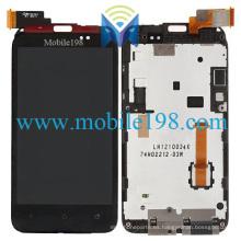 para HTC Desire Vc T328d Pantalla LCD y digitalizador táctil con marco