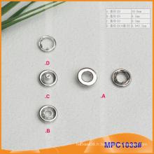 Prong Snap Button avec bouchon métallique, haute qualité pour vêtement
