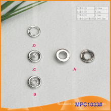 Prong Snap Button with Metal Cap,High Quality For Garment
