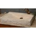 Lavabo de mármol beige egipcio