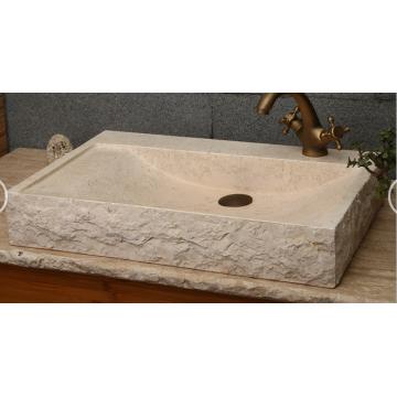 Egyptian beige marble basin