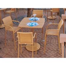 Pátio jardim de vime da resina do Rattan ao ar livre mobiliário Bar fezes conjunto