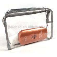 гибкий мягкий прозрачный ТПУ косметический мешок макияж мешок с застежкой-молнией