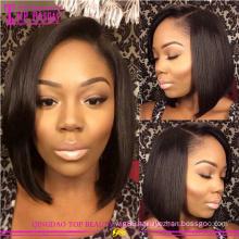 Wholesale brazilian lace wigs fashion remy brazilian human hair short lace wigs hot sale brazilian hair wigs for black women
