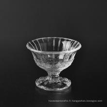 Bol en verre décoratif 150ml en gros avec couvercle