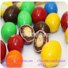 Chocolate recubierto de cacahuate snack de caramelo